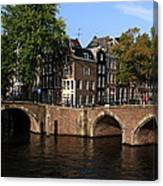 Amsterdam Stone Arch Bridges Canvas Print