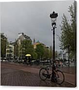 Amsterdam - The Yellow Umbrella Canvas Print