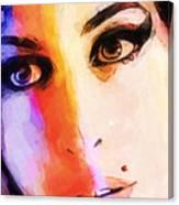 Amy Pop-art Canvas Print