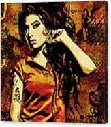 Amy Winehouse 24x36 Mm Reg Canvas Print
