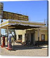 An Abandon Gas Station On Route 66 Canvas Print