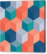 An Abstract Geometric Vector Background Canvas Print
