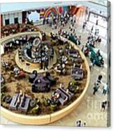 An Aerial View Of The Marina Bay Sands Hotel Lobby Singapore Canvas Print