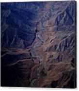 An Aerial View Of Winding Rivers Canvas Print
