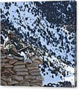 An Afghan Border Patrolman Provides Canvas Print