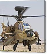 An Ah-64d Saraf Attack Helicopter Canvas Print
