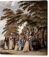 An Airing In Hyde Park, 1796 Canvas Print
