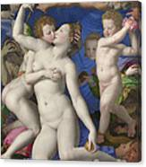 An Allegory With Venus And Cupid Canvas Print