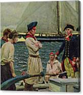 An American Privateer Taking A British Prize, Illustration From Pennsylvanias Defiance Canvas Print