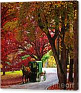 An Amish Autumn Ride Canvas Print