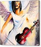 An Angel Performs Canvas Print