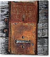 An Antique Mailbox Canvas Print