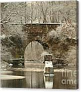 An Arched Stone Bridge Canvas Print
