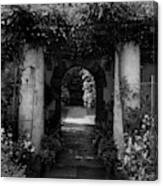 An Archway In The Garden Of Mrs. Carl Tucker Canvas Print