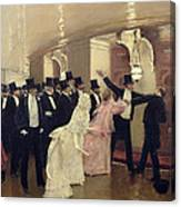An Argument In The Corridors Of The Opera Canvas Print