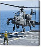 An Army Ah-64d Apache Helicopter Canvas Print