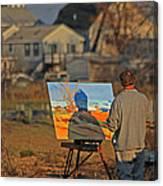 An Artist At Work Canvas Print