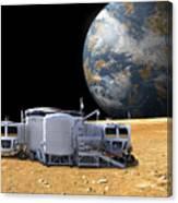An Artists Depiction Of A Lunar Base Canvas Print