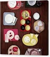An Assortment Of Dinnerware Canvas Print