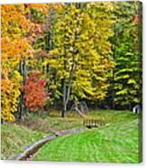 An Autumn Childhood Canvas Print