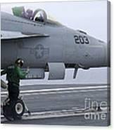 An Aviation Boatswains Mate Prepares An Canvas Print