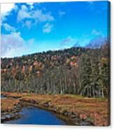 An Early Fall Day At Cary Lake Canvas Print