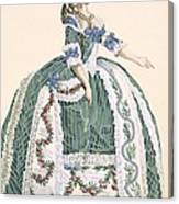An Elaborate Royal Court Gown, Engraved Canvas Print