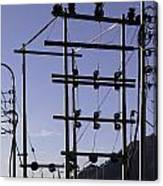 An Electric Transmission Pole In The Himalayas Canvas Print