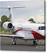An Embraer Legacy 600 Private Jet Canvas Print