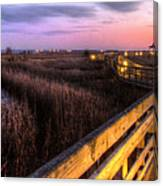 An Evening At The Marsh Canvas Print