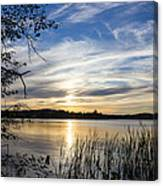 An Evening In Lakes Country Canvas Print