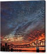 An Evening In Louisville Canvas Print