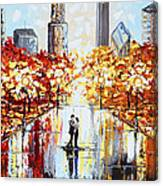 An Evening in the City Canvas Print