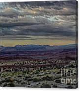 An Evening In The Desert Canvas Print