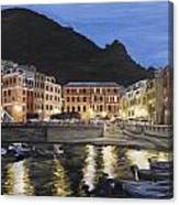 An Evening In Vernazza Canvas Print
