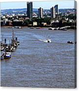 An Expansive View From The Tower Bridge Canvas Print