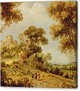 An Extensive Wooded Landscape Canvas Print
