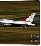 An F-16 Thunderbird Of The U.s. Air Canvas Print
