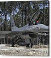 An F-16a Fighting Falcon Canvas Print