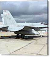 An Fa-18c Hornet On The Ramp At Marine Canvas Print