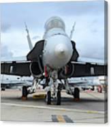 An Fa-18d Hornet On The Ramp At Marine Canvas Print