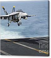 An Fa-18f Super Hornet Prepares To Land Canvas Print