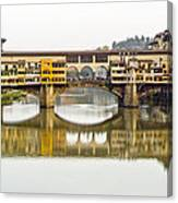 An Icon Of Florence -ponte Veccio Canvas Print