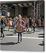 An Irish Dance Group Flying High While Dancing At The 2009 St. Patrick Day Parade Canvas Print