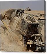 An Israel Defense Force Caterpillar D-9 Canvas Print