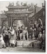 An Itinerant Chinese Doctor At Canvas Print