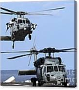 An Mh-60s Sea Hawk Approaches Canvas Print
