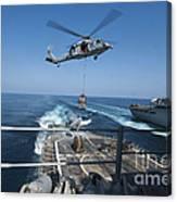 An Mh-60s Sea Hawk Brings Pallets Canvas Print