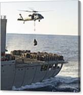 An Mh-60s Sea Hawk Helicopter Carries Canvas Print