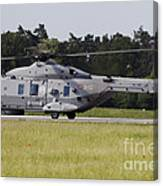 An Nh90 Helicopter Of The Italian Navy Canvas Print